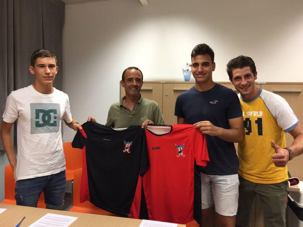 Jordi Ruhí i Rafa Ramírez, nous jugadors del CP Caldes
