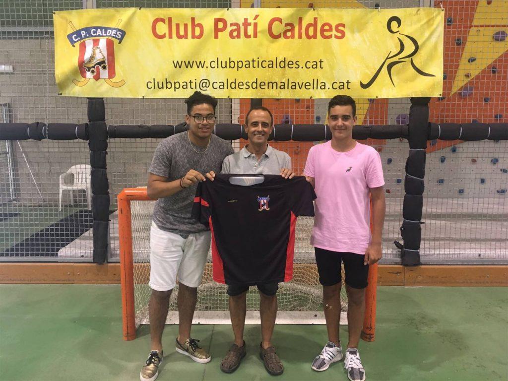 Ifeanyi Williams i Miquel Roger de la Torre, nous jugadors del CP Caldes