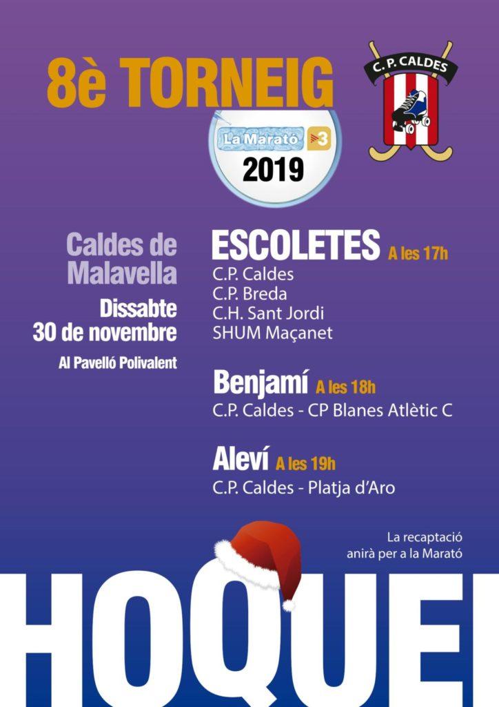 La Marató de TV3 2019 hoquei a Caldes de Malavella