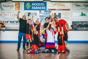 CP Caldes de Malavella Hoquei. Campions Lliga 2020-21 Pre-Benjamí